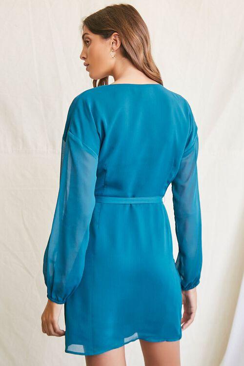TEAL Tie-Waist Mini Dress, image 3
