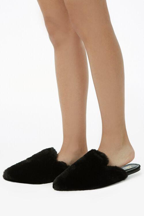 Faux Fur Flats, image 1