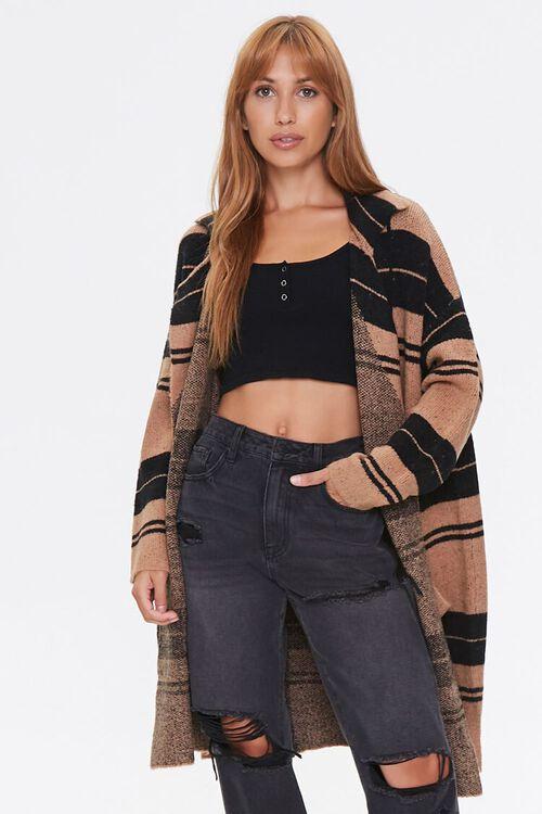 Plaid Cardigan Sweater, image 1