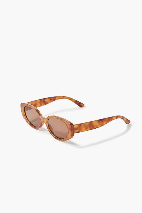 Tortoiseshell Oval Sunglasses, image 3
