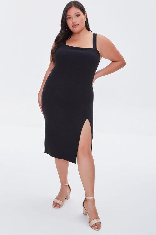 Plus Size Bodycon Slit Dress, image 4