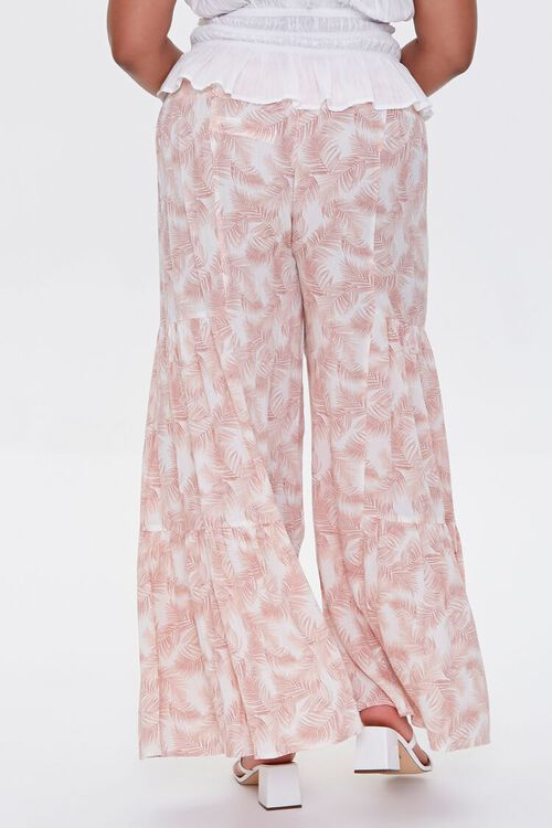 Plus Size Leaf Print Wide-Leg Pants, image 4