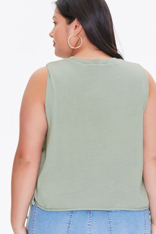 Plus Size Butterfly Graphic Muscle Tee, image 3