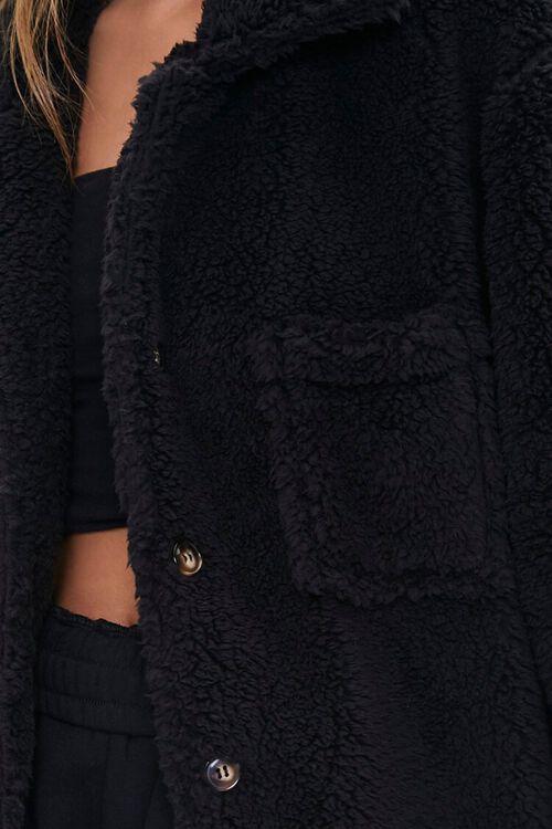 Faux Shearling Drop-Sleeve Jacket, image 6