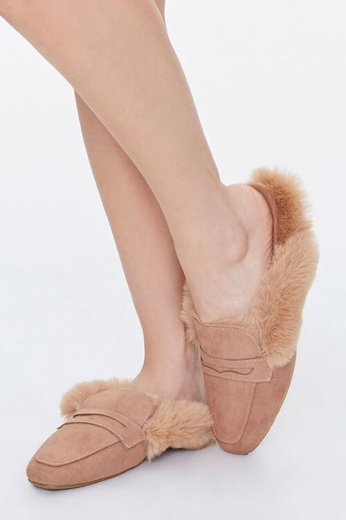 Faux Fur-Lined Mules, image 1