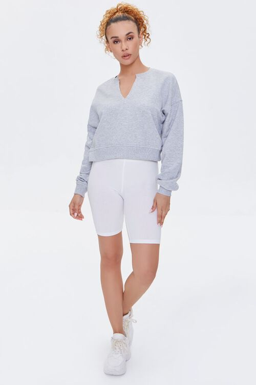 Split-Neck Sweatshirt, image 4