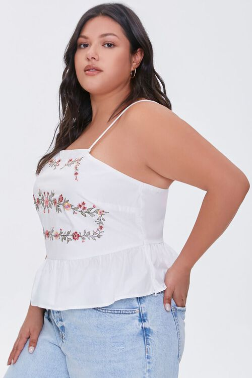 Plus Size Embroidered Floral Cami, image 2