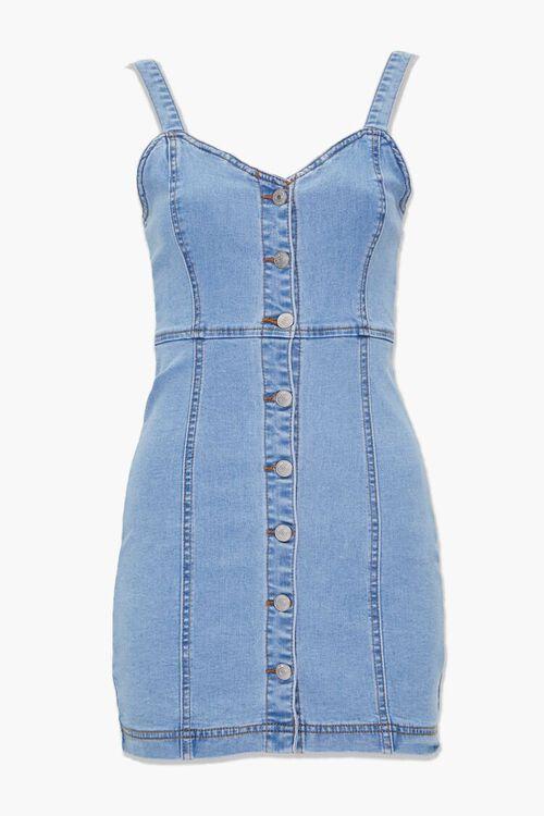Denim Button-Down Dress, image 1