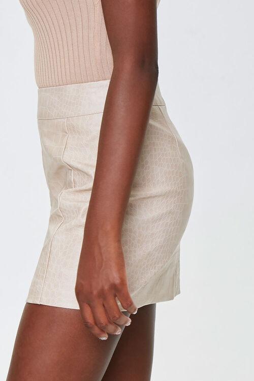Faux Croc Mini Skirt, image 2