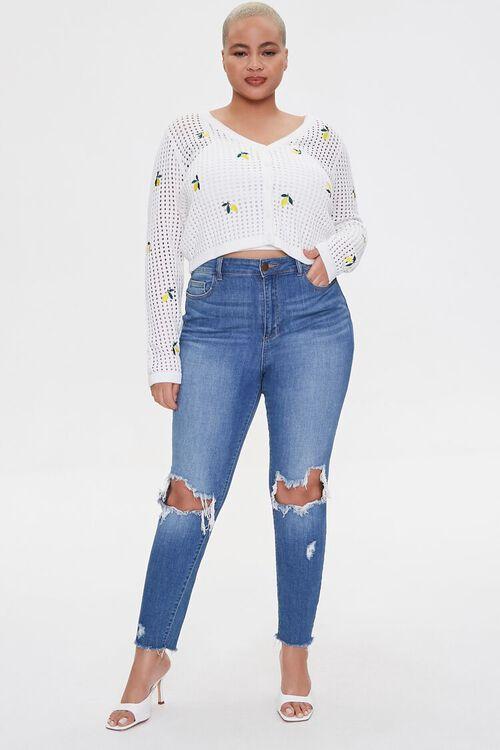 Plus Size Lemon Cardigan Sweater, image 4