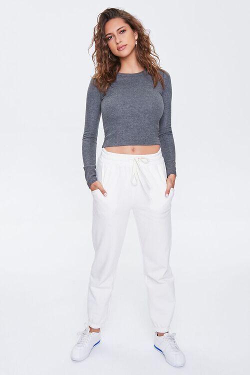 CHARCOAL HEATHER Long-Sleeve Top, image 4
