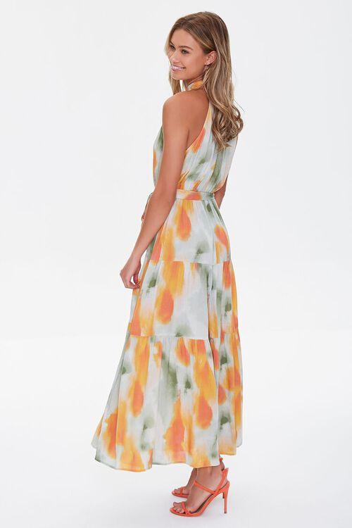 Watercolor Wash Halter Maxi Dress, image 2