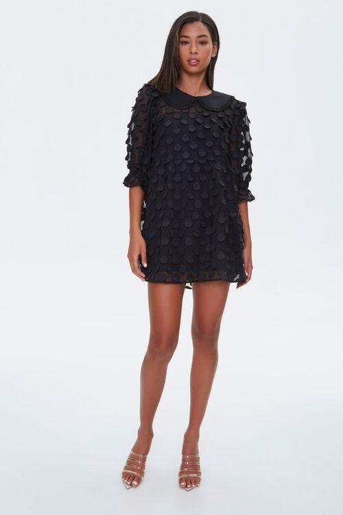 Polka Dot-Embellished Collared Dress, image 4