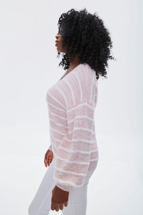 Striped Fuzzy Knit Sweater, image 2