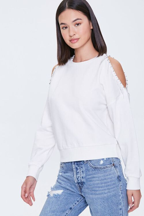 Beaded Open-Shoulder Pullover, image 1