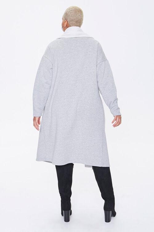 Plus Size Colorblock Longline Coat, image 3