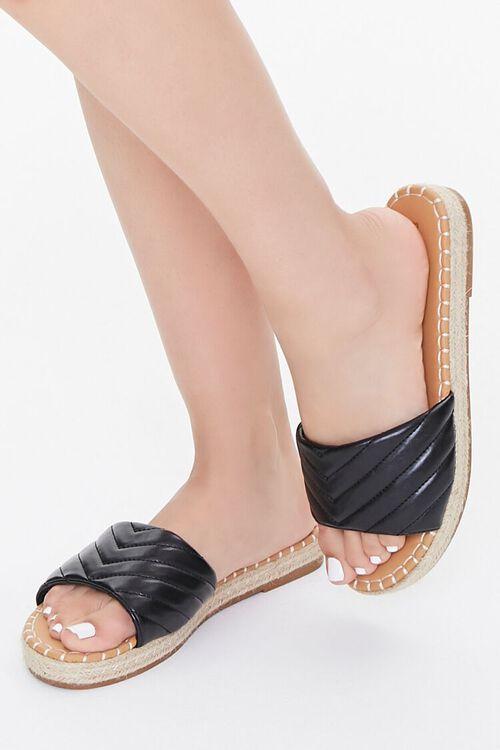 Quilted Espadrille Flatform Sandals, image 1
