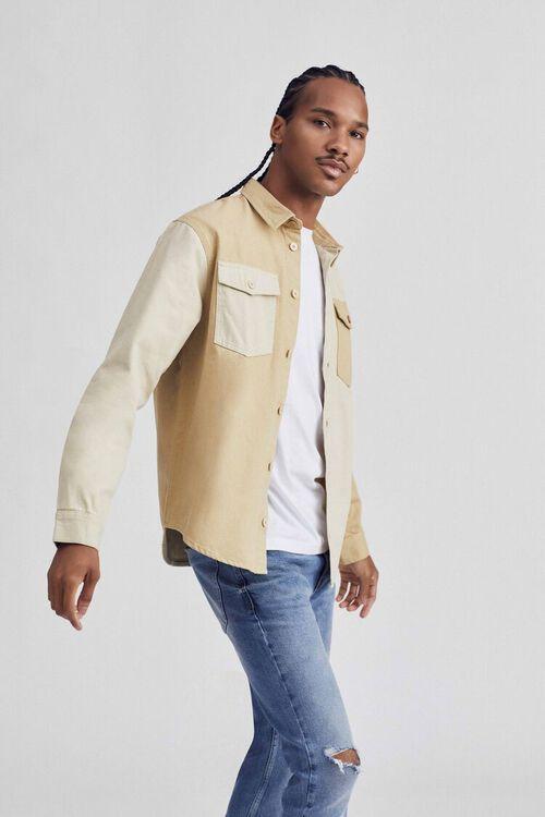 Classic Fit Colorblock Pocket Shirt, image 1