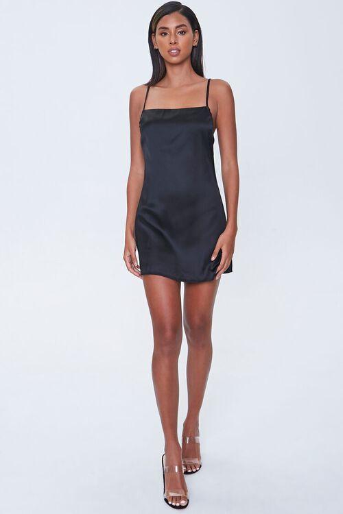 Satin Mini Cami Dress, image 4