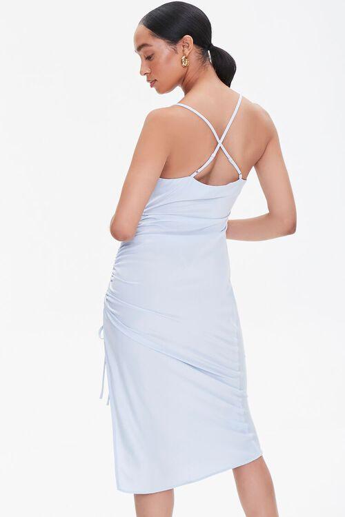 Satin Crisscross Slip Dress, image 3