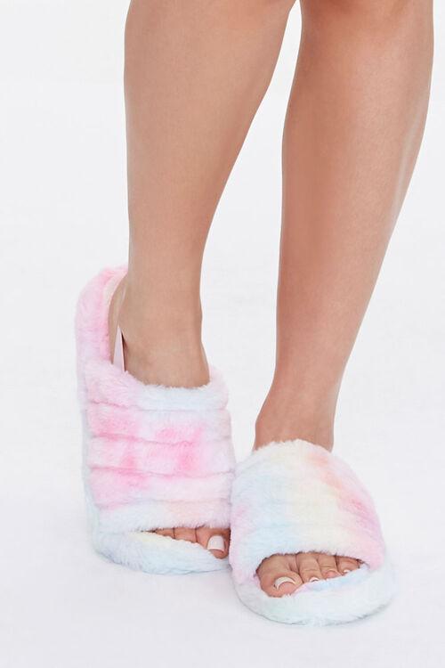 Faux Fur Open Toe Slippers, image 4