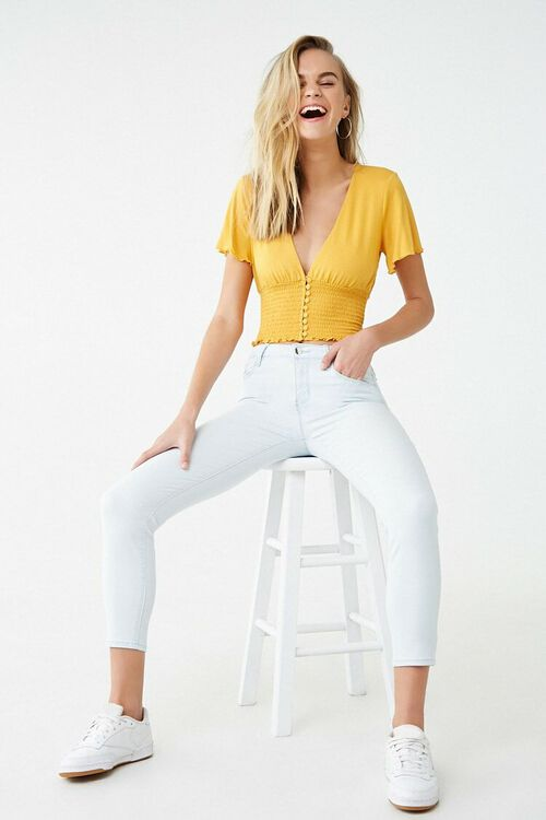 Low-Rise Skinny Ankle Jeans, image 1