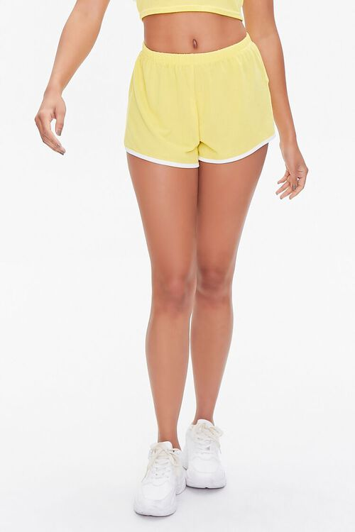 Contrast-Trim Cropped Tee & Shorts Set, image 6