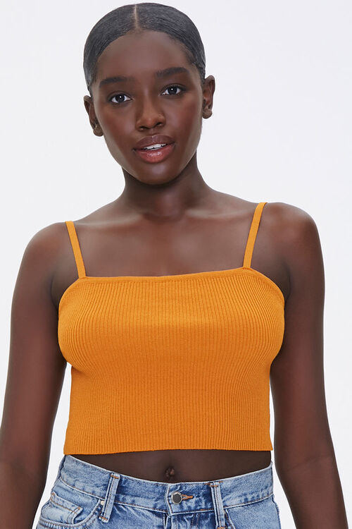 Sweater-Knit Ribbed Cami, image 1