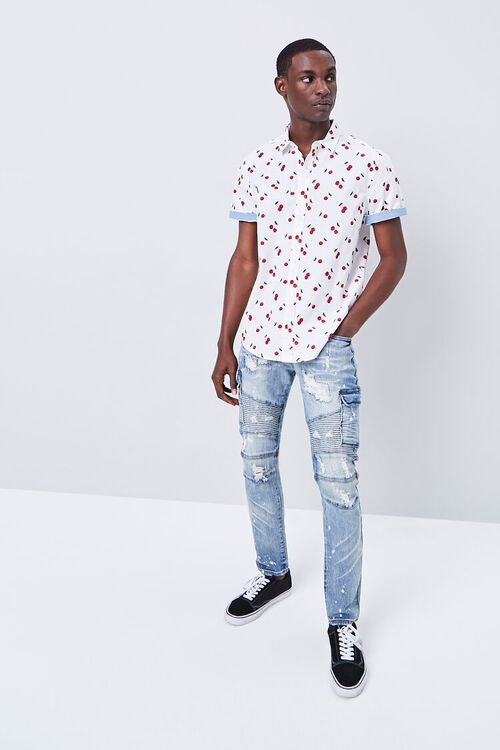 Fitted Cherry Print Shirt, image 4