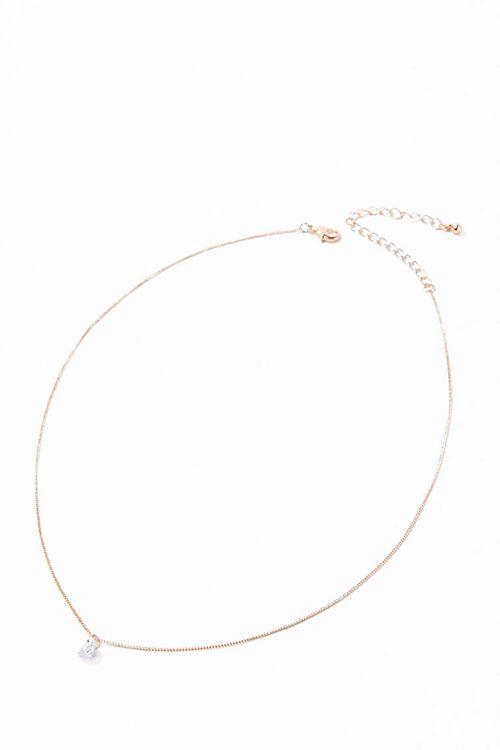 CZ Stone Charm Necklace, image 3