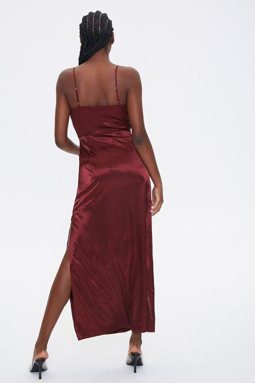 Satin Cowl Neck Maxi Dress, image 4