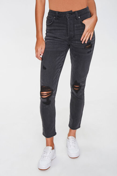 Distressed Mom Jeans, image 1