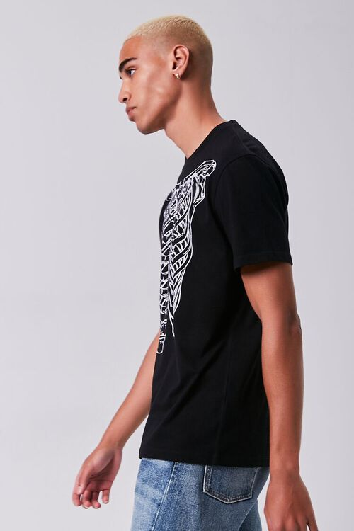 BLACK/WHITE Skeleton Graphic Short-Sleeve Tee, image 2