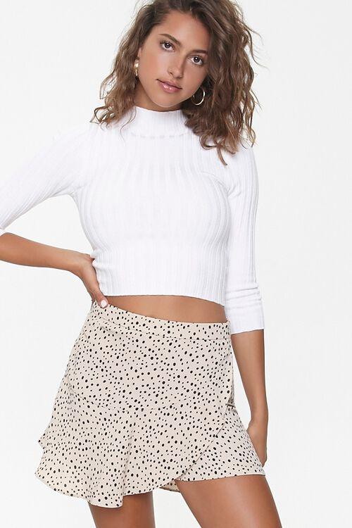 Spotted Print Mini Skirt, image 1