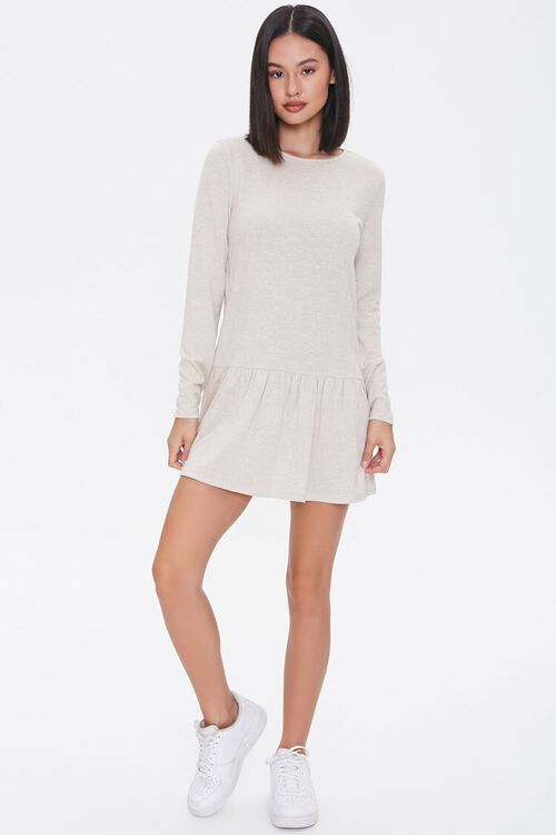 French Terry Drop Waist Dress, image 4