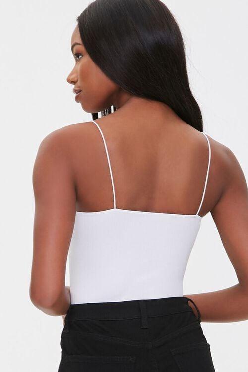 Straight-Neck Cami Thong Bodysuit, image 3