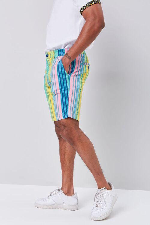 Multicolor Vertical Striped Shorts, image 3