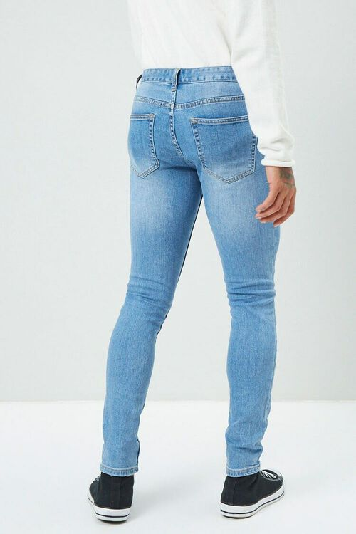 Faded Wash Skinny Jeans, image 4