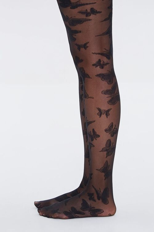 Sheer Butterfly Tights, image 2