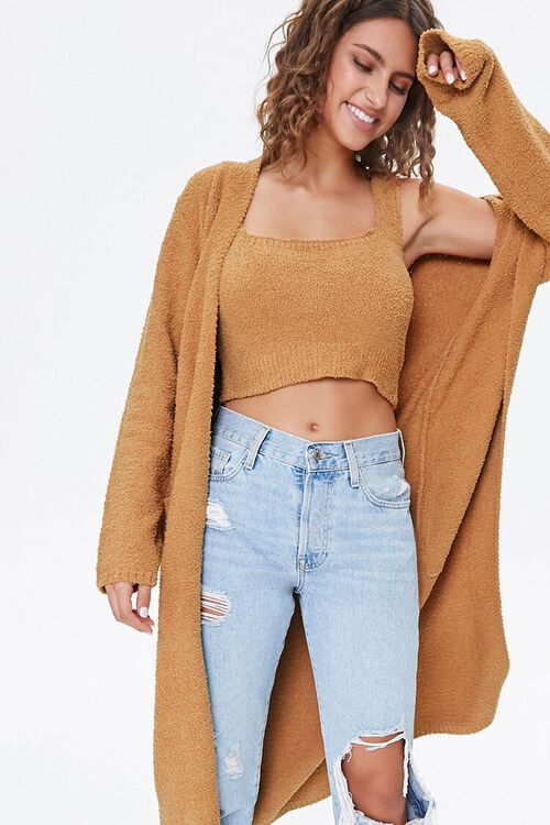Belted Cardigan Sweater, image 1