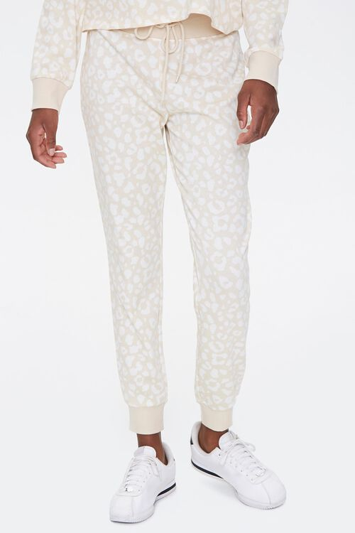 French Terry Leopard Joggers, image 2