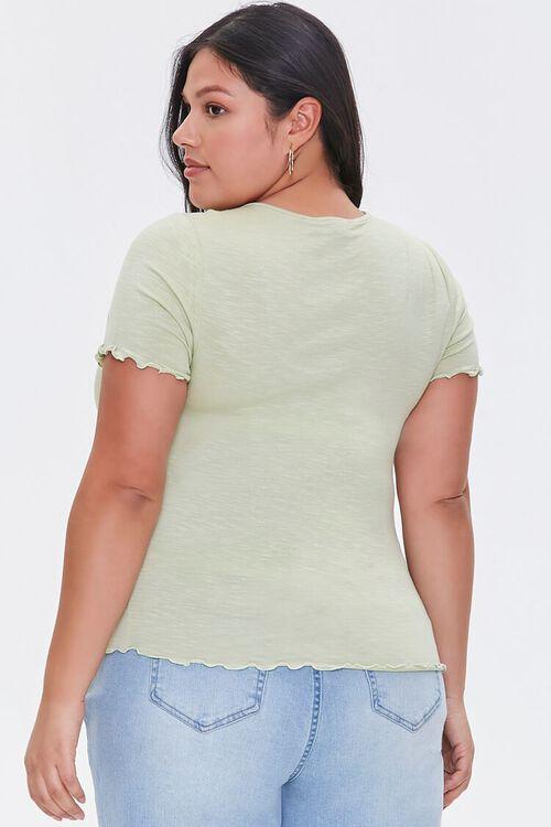 Plus Size Lettuce-Edge Top, image 3
