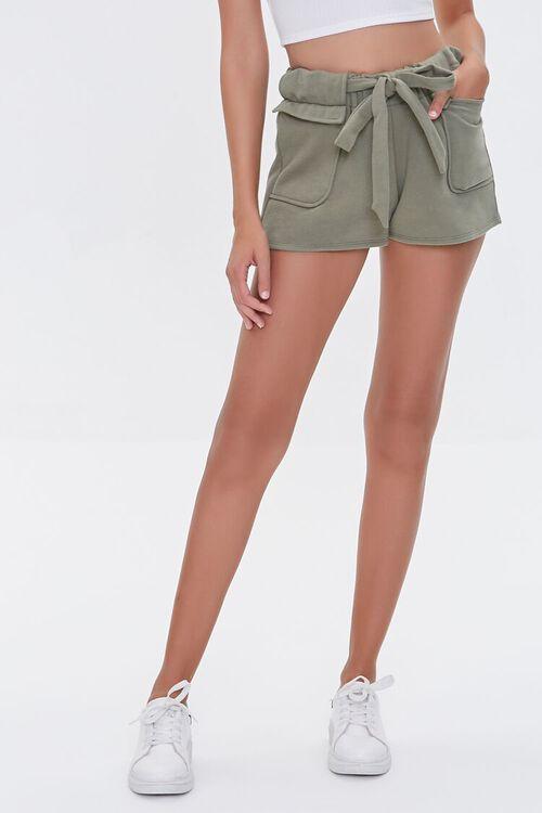Fleece Tie-Waist Shorts, image 2