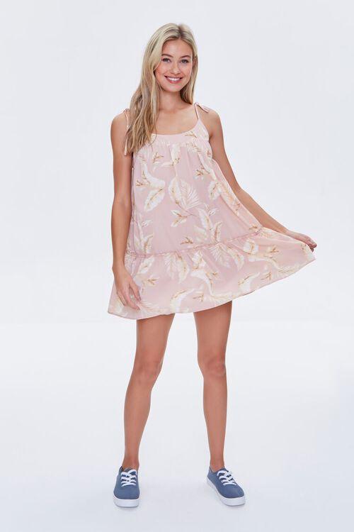 Leaf Print Mini Dress, image 4