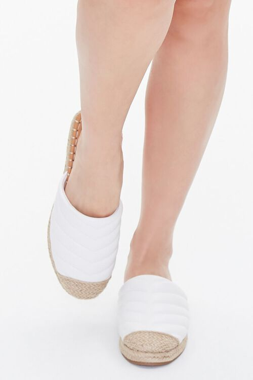 Quilted Espadrille Flats, image 4