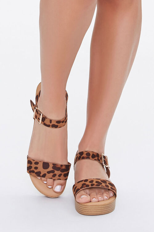 Cheetah Print Stacked Sandals, image 4