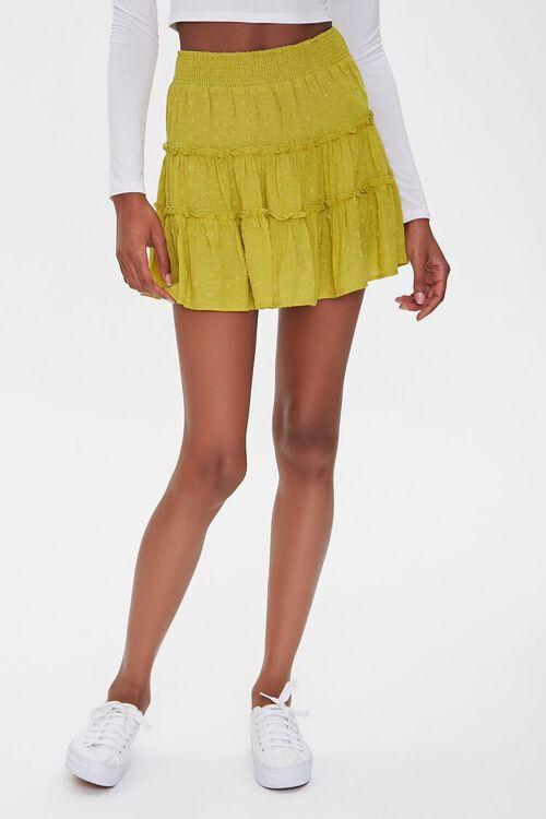 Tiered Clip Dot Mini Skirt, image 2