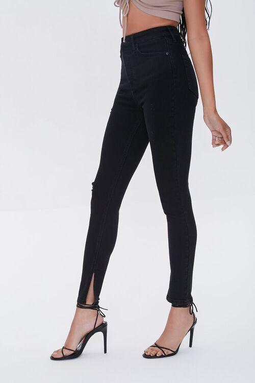 Premium High-Rise Skinny Slit Jeans, image 2