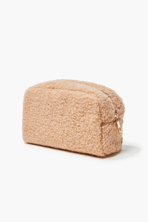 Faux Shearling Zip-Up Pouch, image 1
