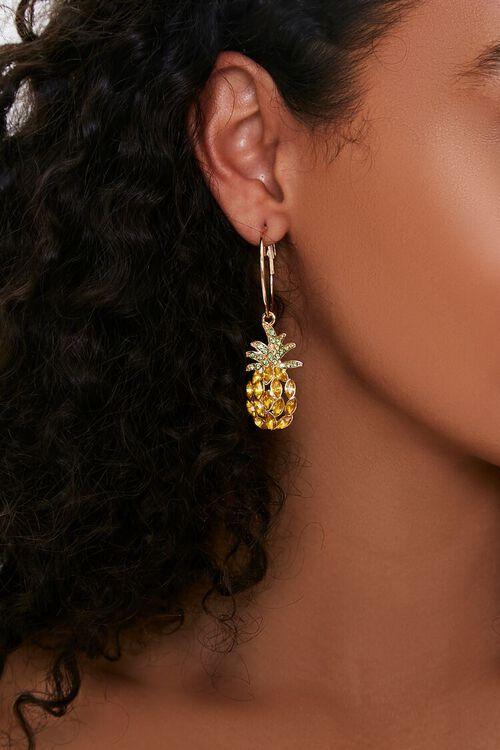 Pineapple Pendant Drop Earrings, image 1